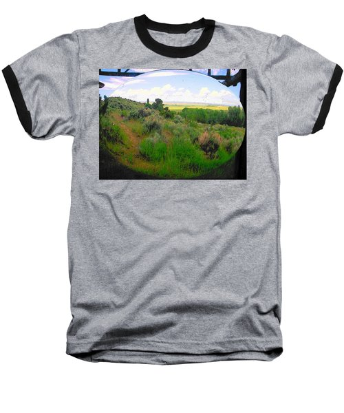 View From Cabin Window Baseball T-Shirt by Lenore Senior