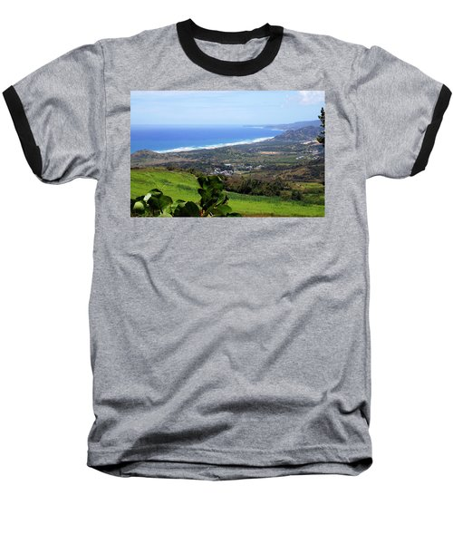 Baseball T-Shirt featuring the photograph View From Cherry Hill, Barbados by Kurt Van Wagner