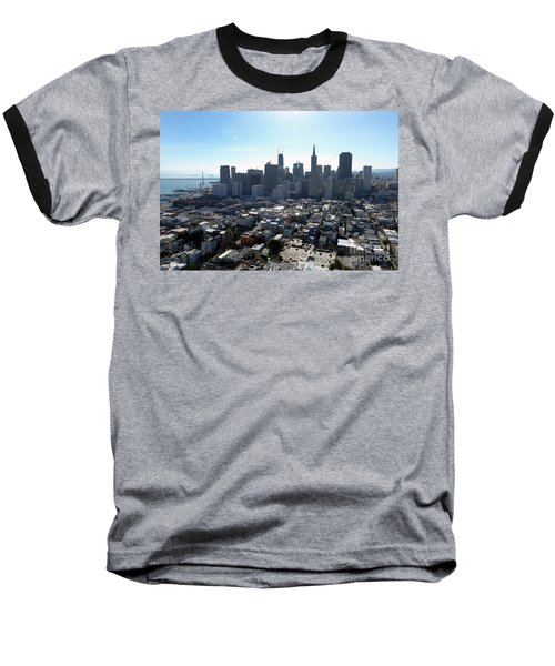 Baseball T-Shirt featuring the photograph View From Coit Tower by Steven Spak