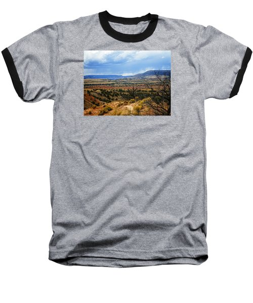 Baseball T-Shirt featuring the photograph View From Ghost Ranch, Nm by Kurt Van Wagner