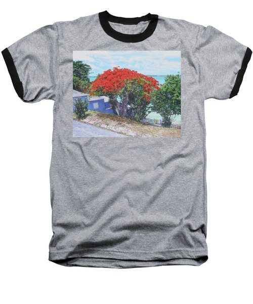View From Hill Street Baseball T-Shirt