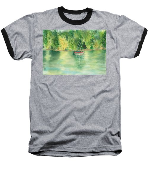 Baseball T-Shirt featuring the painting View From Millbay Ferry by Vicki  Housel