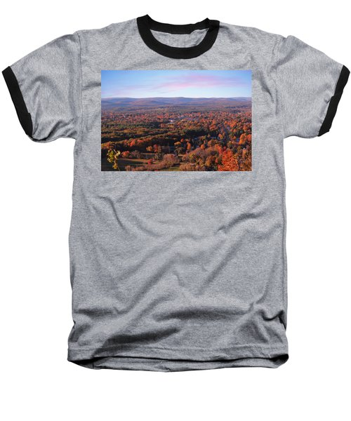 View From Mount Tom In Easthampton, Ma Baseball T-Shirt