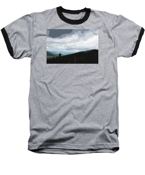 View From Mount Washington II Baseball T-Shirt by Suzanne Gaff