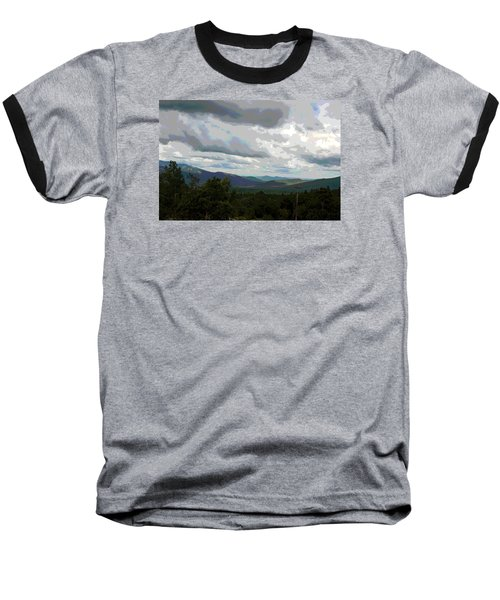 View From Mount Washington IIi Baseball T-Shirt by Suzanne Gaff