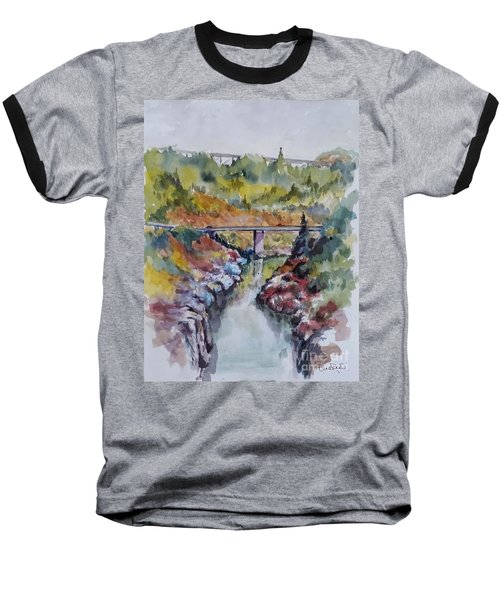 View From No Hands Bridge Baseball T-Shirt by William Reed