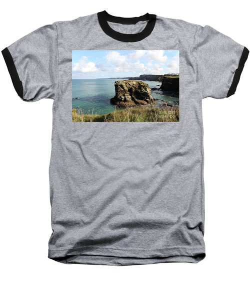 Baseball T-Shirt featuring the photograph View From Porth Peninsula by Nicholas Burningham