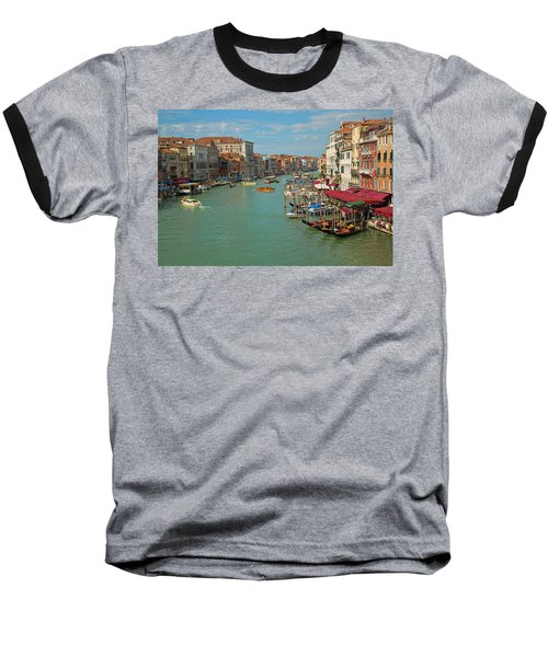 View From Rialto Bridge Baseball T-Shirt by Sharon Jones