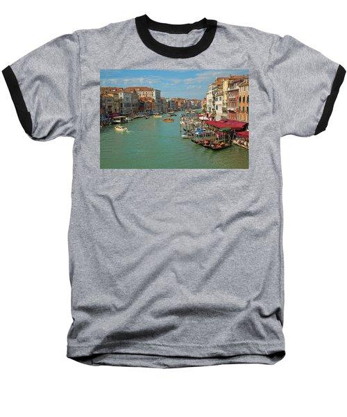 View From Rialto Bridge Baseball T-Shirt