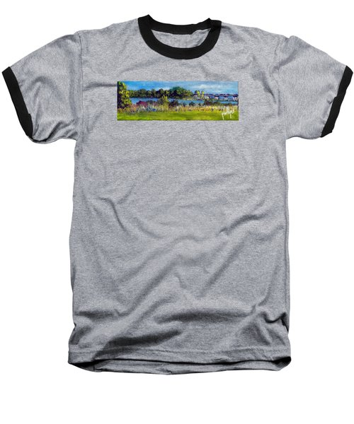 View From Sturgeon City Park Baseball T-Shirt by Jim Phillips