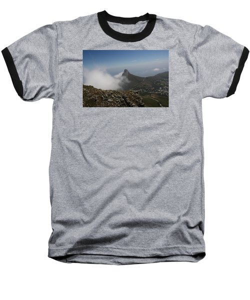 View From Table Mountain Baseball T-Shirt by Bev Conover