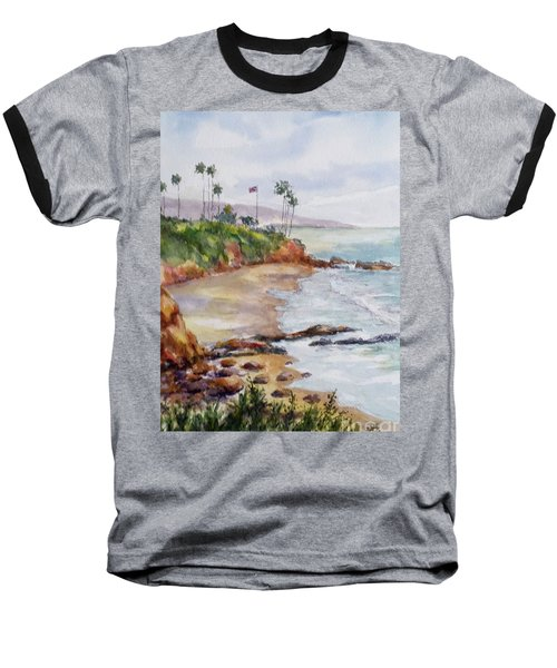 View From The Cliff Baseball T-Shirt by William Reed