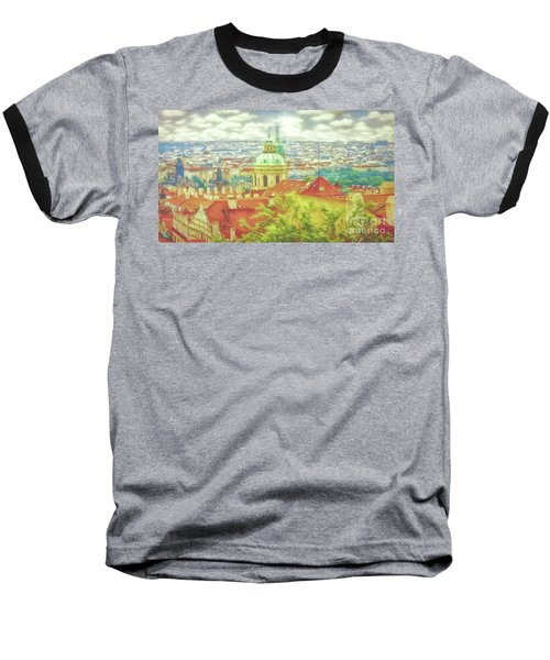 View From The High Ground - Prague  Baseball T-Shirt