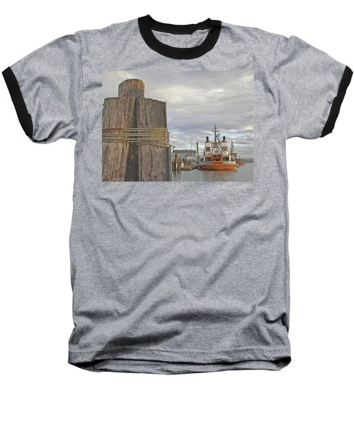 View From The Pilings Baseball T-Shirt