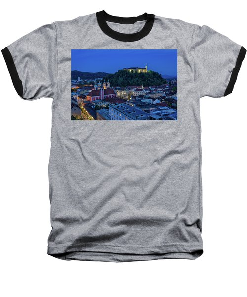 Baseball T-Shirt featuring the photograph View From The Skyscraper #2 - Slovenia by Stuart Litoff