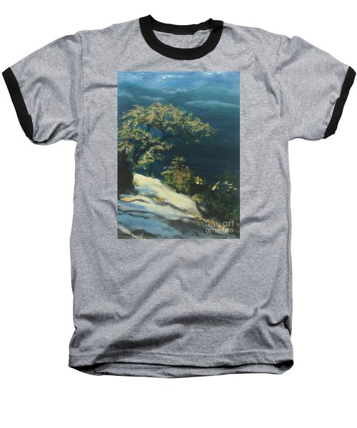 Baseball T-Shirt featuring the painting View From The Top by Mary Lynne Powers