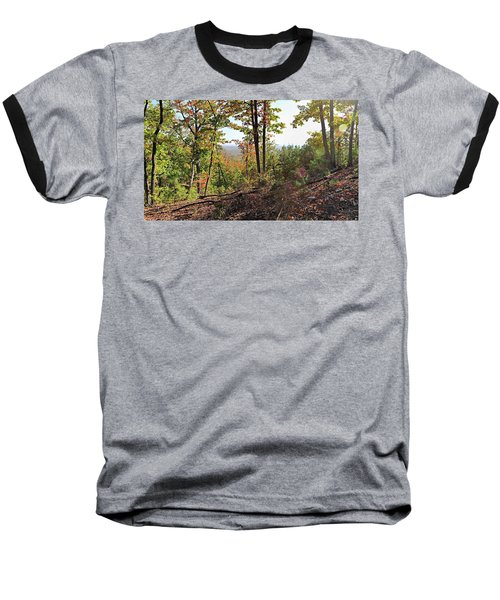 View From The Top Of Brown's Mountain Trail, Kings Mountain Stat Baseball T-Shirt