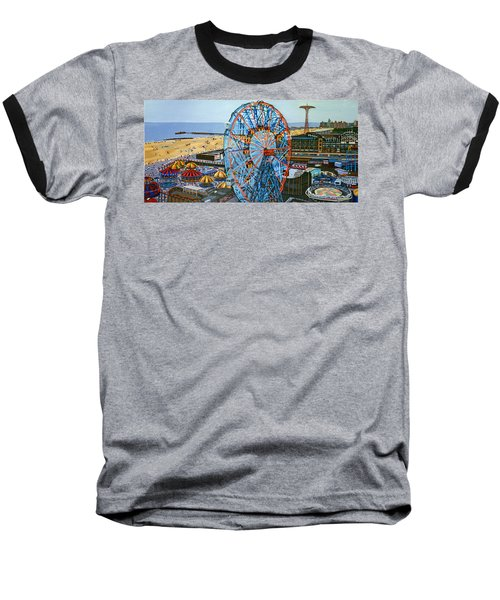 View From The Top Of The Cyclone Rollercoaster Baseball T-Shirt