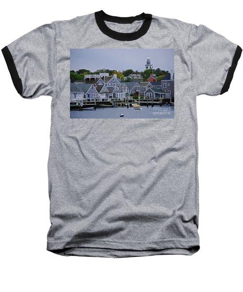 View From The Water Baseball T-Shirt by Lori Tambakis