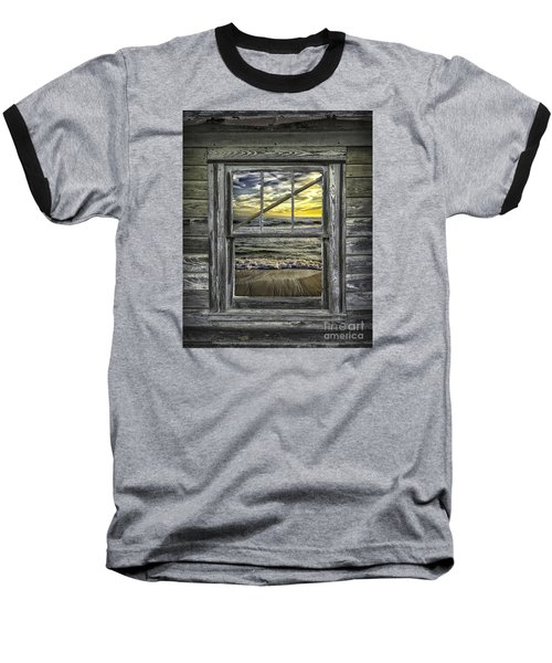 View From Weathered Beach Cottage Baseball T-Shirt by Walt Foegelle