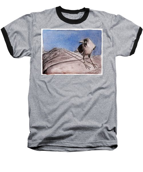 Baseball T-Shirt featuring the painting View by Jasna Dragun