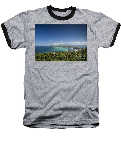 View Of Boracay Island Tropical Coastline In Philippines Baseball T-Shirt