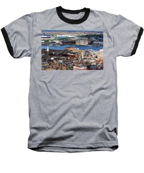View Of Charlestown Navy Yard Baseball T-Shirt