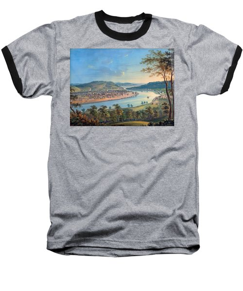 Baseball T-Shirt featuring the painting View Of Cincinnati From Covington by John Caspar Wild