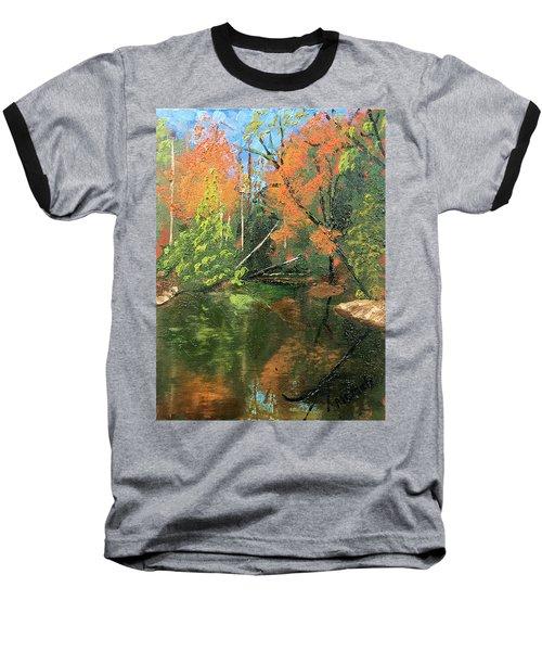 View Of Creek From Lake Huron Baseball T-Shirt