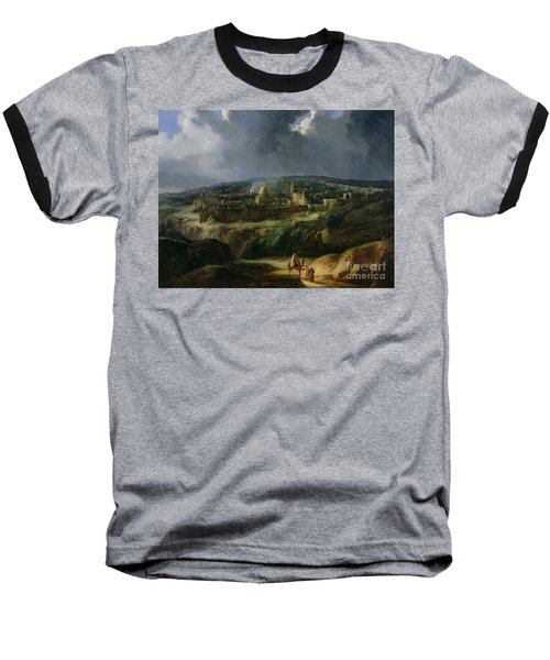View Of Jerusalem From The Valley Of Jehoshaphat Baseball T-Shirt