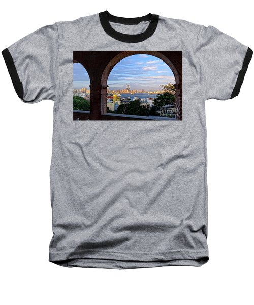Baseball T-Shirt featuring the photograph View Of Kaohsiung City At Sunset Time by Yali Shi