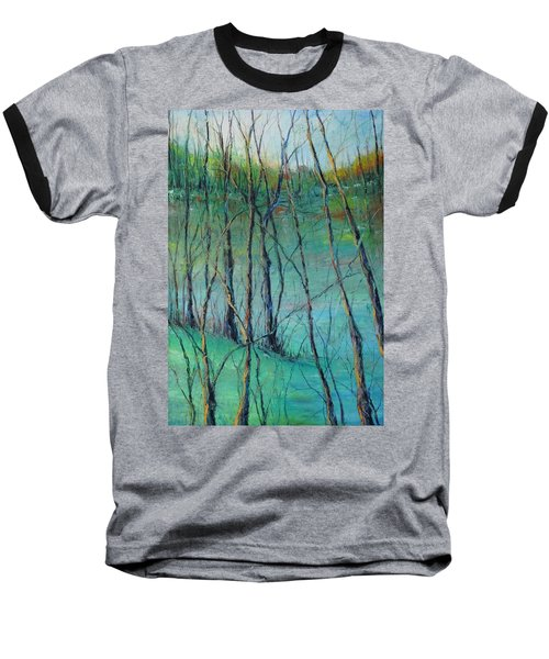 View Of Nature's Canvas Baseball T-Shirt by Robin Miller-Bookhout