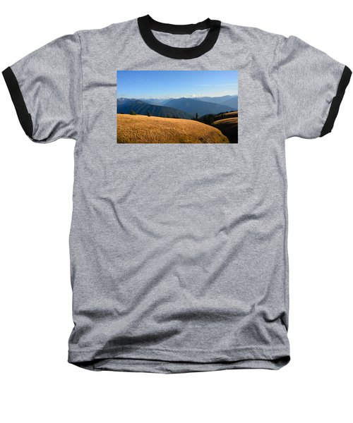 View Of Olympics From Hurricane Ridge Baseball T-Shirt