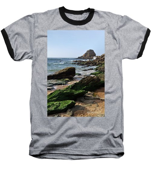 View Of Santa Rita Beach In Torres Vedras Baseball T-Shirt