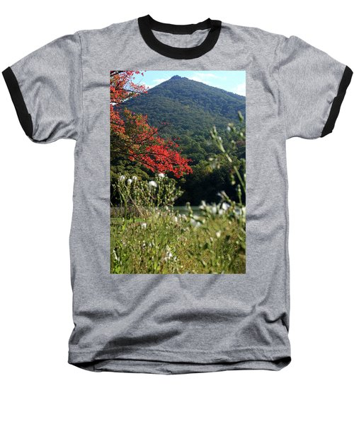 Baseball T-Shirt featuring the photograph View Of Sharp Top In Autumn by Emanuel Tanjala