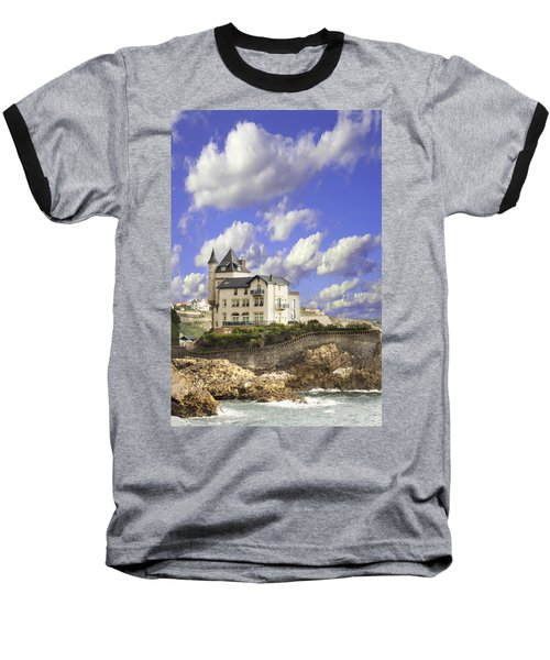 View Of The Beautiful Castle On The Bay Of Biscay Of The Atlantic Ocean Baseball T-Shirt