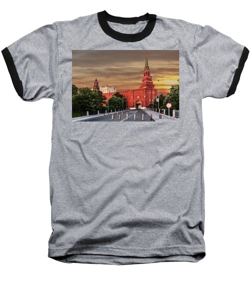 View Of The Borovitskaya Tower Of The Moscow Kremlin Baseball T-Shirt