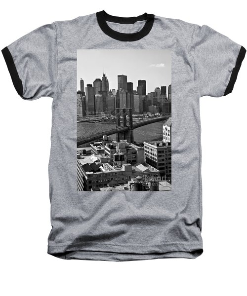 View Of The Brooklyn Bridge Baseball T-Shirt by Madeline Ellis