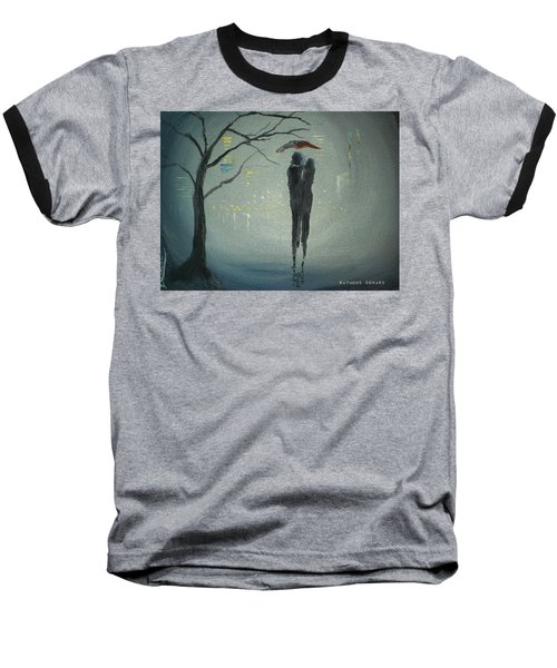 Baseball T-Shirt featuring the painting View Of The City by Raymond Doward