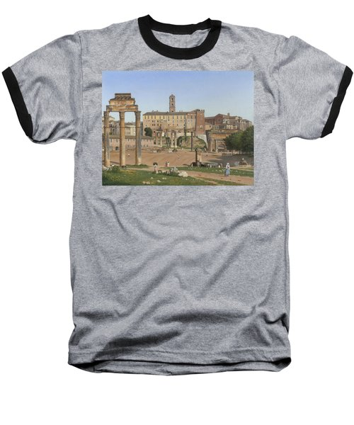 View Of The Forum In Rome Baseball T-Shirt by Christoffer Wilhelm Eckersberg