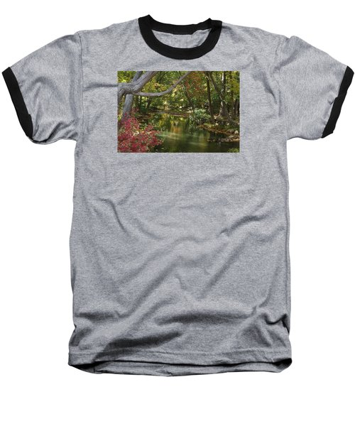 Baseball T-Shirt featuring the photograph View Of The Mill River by Margie Avellino