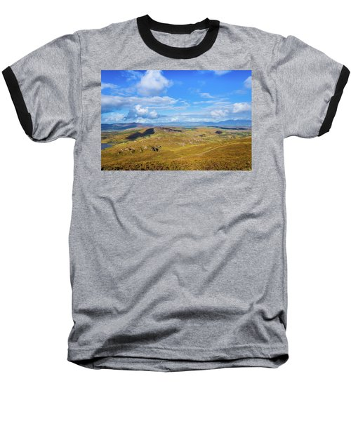 View Of The Mountains And Valleys In Ballycullane In Kerry Irela Baseball T-Shirt by Semmick Photo