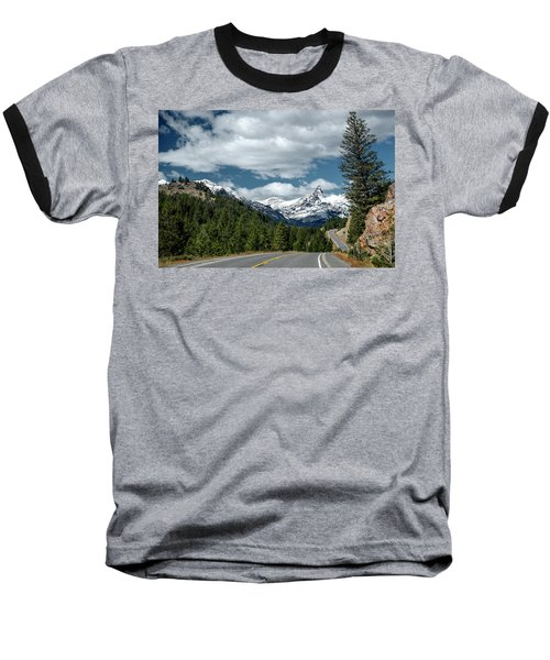 View Of The Pilot Peak From Highway 212 Baseball T-Shirt