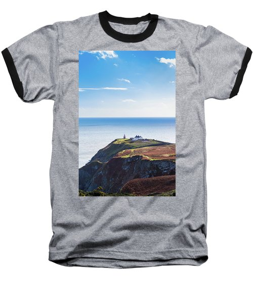 View Of The Trails On Howth Cliffs With The Lighthouse In Irelan Baseball T-Shirt by Semmick Photo