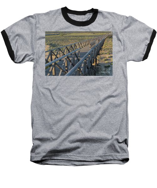 View Of The Wooden Bridge In Quinta Do Lago Baseball T-Shirt by Angelo DeVal