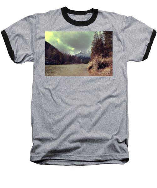 View On The Blackfoot River Baseball T-Shirt by Janie Johnson