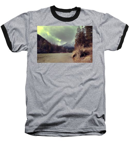 View On The Blackfoot River Baseball T-Shirt