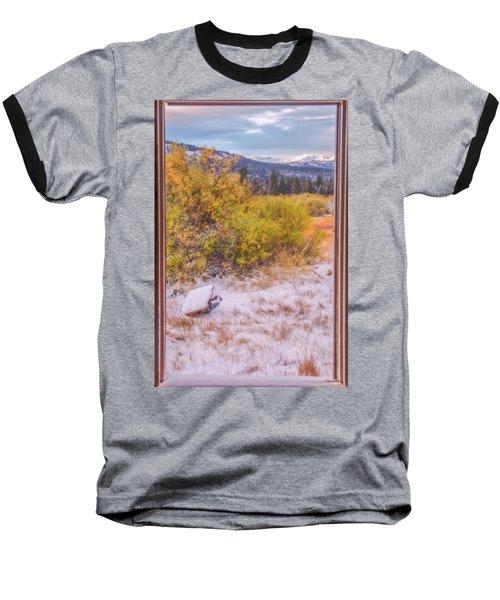 View Out Of A Broken Window Baseball T-Shirt by Marc Crumpler