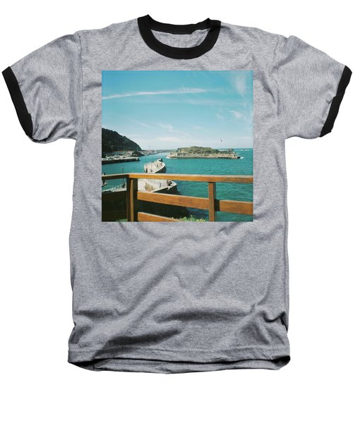 View Over The Ocean Port Baseball T-Shirt
