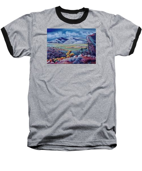 Baseball T-Shirt featuring the painting View South From Cedar Breaks by Dawn Senior-Trask